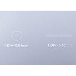 BRESSER Mikroskop Objektträger Mikrometerskala 1/10 & 1/100 mm