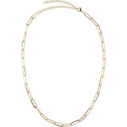 styleBREAKER Gliederkette, Edelstahl Glieder Halskette goldfarben