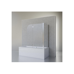 Schulte Badewannenfaltwand Angle, 5 mm ESG, (3 tlg), 2-teilig (112 x 142 cm) mit Seitenwand 112 cm x 142 cm x 80 cm