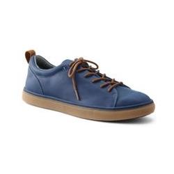 Leder-Sneaker - 44.5 - Blau