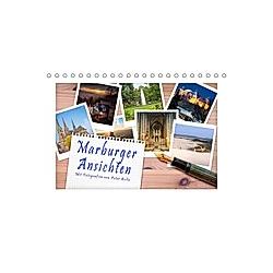 Marburger Ansichten (Tischkalender 2021 DIN A5 quer)