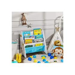 SONGMICS Bücherregal GKR72WT, Bücherregal für Kinder, Kinderzimmerregal, Spielzeug-Organizer, weiß