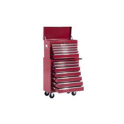 HOMCOM Werkstattwagen Fahrbarer Werkstattwagen mit 16 Schubladen rot