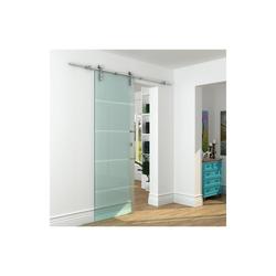 Glasschiebetür Stahl GLASSY - H 205 x B 73 cm