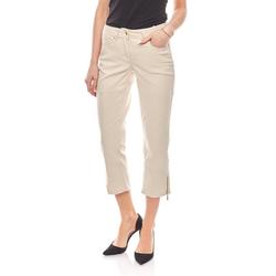 Corley originals Regular-fit-Jeans 7/8 Skinny Hose Jeans mit goldenem Reißverschluss Beige CORLEY 36
