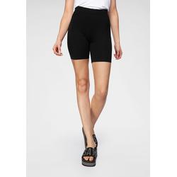 AJC Radlerhose, in figurbetonender Form schwarz Damen Kurze Hosen Radlerhose