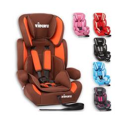 KIDUKU Autokindersitz, Kindersitz 9-36 kg (1-12 Jahre) - Autositz ECE R44/04, Gruppe 1/2/3 Autokindersitz Kinderautositz braun