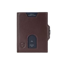 VON HEESEN Mini Geldbörse Whizz Wallet mit Cryptalloy RFID-Schutz und 6 Kartenfächern (braun)