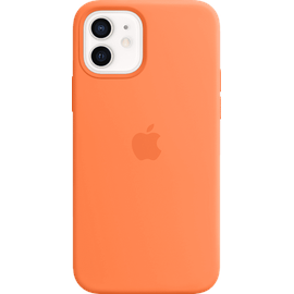 Apple iPhone 12   12 Pro Silikon Case mit MagSafe kumquat