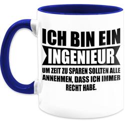 Shirtracer Tasse Ich bin Ingenieur - Statement Tasse - Tasse zweifarbig, Keramik