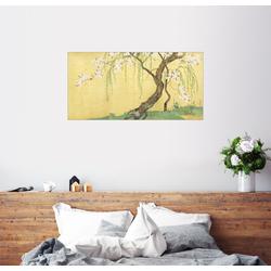 Posterlounge Wandbild, Kirsch- und Ahornbäume 40 cm x 20 cm