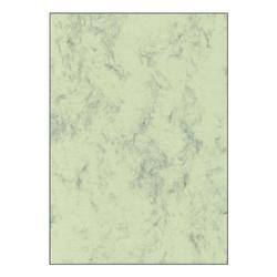 Marmorpapier - 50 Blatt - 200g/m² grün, Sigel, 21x29.7 cm