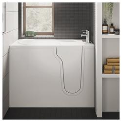 HAK Badewanne FREEDOM, Sitzbadewanne mit Tür, 127x66 cm, rechts