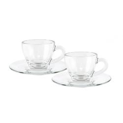 Bialetti Set 2 Espressotassen Glas
