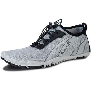 IceUnicorn Barfussschuhe Herren Damen Traillaufschuhe Fitnessschuhe Aquaschuhe Laufschuhe Zehenschuhe Wassersportschuhe(Grau, 41EU)