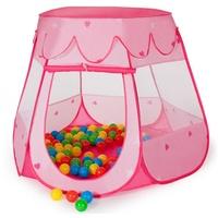 Tectake Bällebad pink inkl. 100 Bälle und Tasche