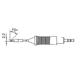 Weller RT7 Lötspitze Messerspitze 45° Spitzen-Größe 2.2mm Inhalt 1St.
