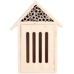 Tianhaik Bienenhaus aus Holzinsektenhotel Garteninsekten-Insektenschutzraum-Nistkastendekoration im Freien