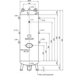 DB VZ 500/11 V - Druckluftbehälter