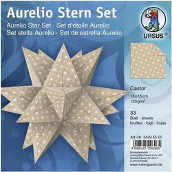 Faltblätter Aurelio Stern Castor Kraftpapier weiß 120g/qm 15x15cm