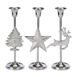 Kerzenhalter für Stabkerze - Aluguss Weihnachtsdeko Weihnachten Stern Hirsch Weihnachtsbaum