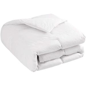 Downcy - Steppdecke mit weißen Gänsedaunen und -federn, Ganzjahresdecke, Tog-Wert 10,5, Einzelbett, 135 x 200 cm, Weiß