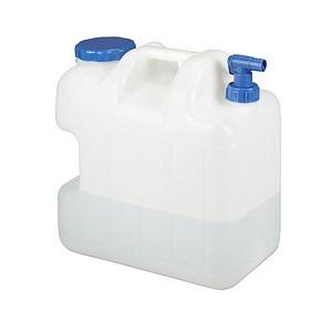 relaxdays Wasserkanister   eckig mit Hahn, je 25,0 l