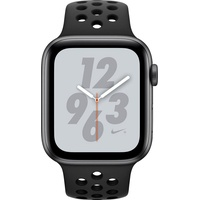 Apple Watch Nike+ Series 4 (GPS + Cellular) 44mm Alumiumgehäuse space grau mit Nike Sportarmband schwarz
