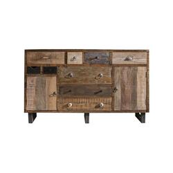 MÖBEL IDEAL Sideboard Priya, im Vintage Stil aus Altholz - 150 cm Breit