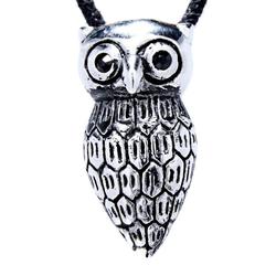 Kiss of Leather Kettenanhänger Eulen Anhänger aus Edelstahl Eule Uhu Owl Nachtvogel