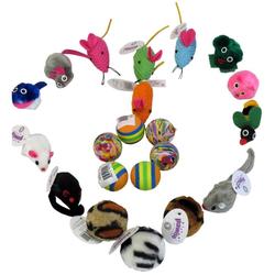 Katzenspielzeug Set Katzenspielzeug Cat Toy mit Bällen und Mäusen 21-teilig