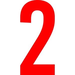 ShirtInStyle Zahlen selbsklebende Aufkleber, von 2-20cm Höhe, Mülltone, Haustür, Basteln, Boote, Nummern, Kennzeichen, Ziffer 2-20cm, rot