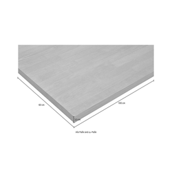 Home affaire Arbeitsplatte weiß 100 cm x 3,5 cm x 60 cm