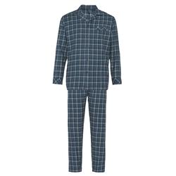 Avena Herren Thermoflanell-Schlafanzug Blau 48, 50, 52, 54, 56, 58, 60