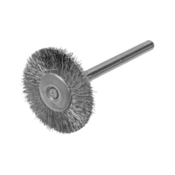 Rundbürste / Miniaturbürste Stahldraht 0,10 Ø22x3 VPE: 12