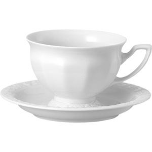 Rosenthal Maria Weiss Kaffeetasse 2tlg / Tasse / Maria Weiß / Cup & Saucer / Tazza caffè alta / Paire tasse