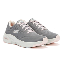 Skechers Arch Fit Big Appeal Womens Grey / Pink Trainers