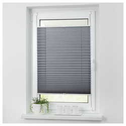 Plissee ohne Bohren Faltstore Fensterrollo Jalousie Faltrollo Plisee Klemmfix, i@home grau 65 cm x 200 cm