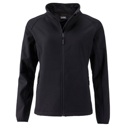 Damen Softshelljacke | James & Nicholson black L