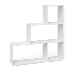 Vicco Raumteiler Treppenregal Asym Bücherregal Regal Wandregal 4 Fächer Weiß