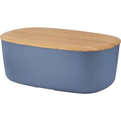 RIG-TIG Brotkasten Box-It, Melamin, Bambus, (1-tlg) blau