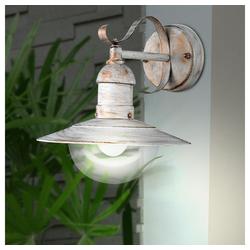 etc-shop LED Laterne, Wand Leuchte weiß gold Hof Außen Lampe Retro Filament Laterne dimmbar im Set inkl. LED Leuchtmittel