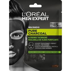 L'ORÉAL PARIS MEN EXPERT Gesichtsmaske Pure Charcoal Tiefenreinigende Tonerde, beseitigt Hautunreinheiten & klärt das Hautbild