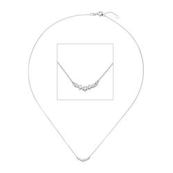 JOBO Collier, 585 Weißgold mit 5 Diamanten 42 cm