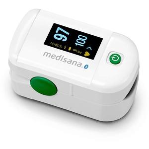 Medisana PM 100 connect Pulsoximeter, Messung der Sauerstoffsättigung im Blut, Fingerpulsoxymeter mit OLED-Display und One-Touch Bedienung mit VitaDock+ App und Bluetooth