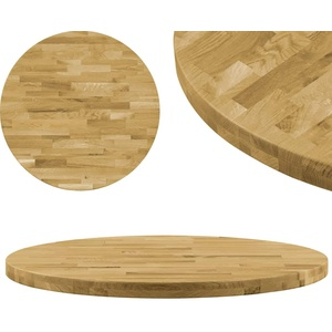 UnfadeMemory Tischplatte Massives Eichenholz Holzplatte als Esstischplatte Couchtischplatte Holzdekorplatte Massivholz-Tischplatte Klassisches Design (900 mm, Rund 44 mm)