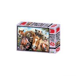 Philos Spiel, 3D Puzzle - 500 Teile - Stable Selfie - Pferde Puzzle