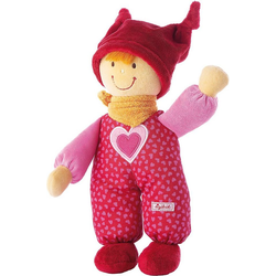 Sigikid Stoffpuppe Stoffpuppe Babydolly Püppchen rot, 24 cm (49283)