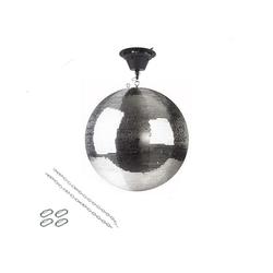 SATISFIRE Discolicht Spiegelkugel Set 50cm Kugel PREMIUM + Motor MBM-5010, 2 Ketten, 4 Kettenglieder