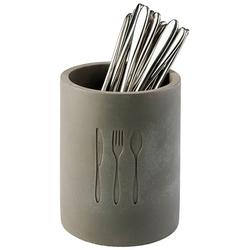 APS Besteckhalter Element, im Beton-Design, Ø 11 cm grau Küchen-Ordnungshelfer Küchenhelfer Küche
